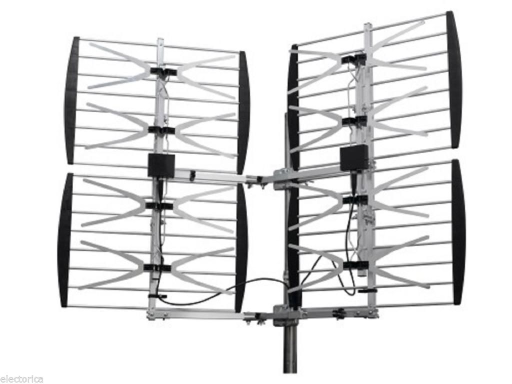 8 Bay Heavy Duty Multi Directional Vhf Uhf Outdoor Hdtv Hd