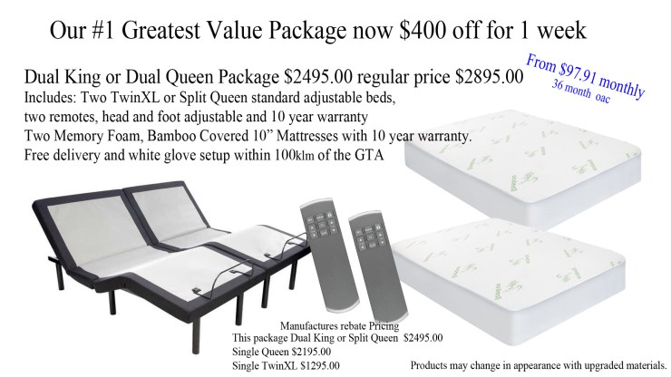 Best adjustable bed package in Canada