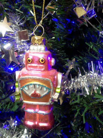 Christmas tree robot, from Dave