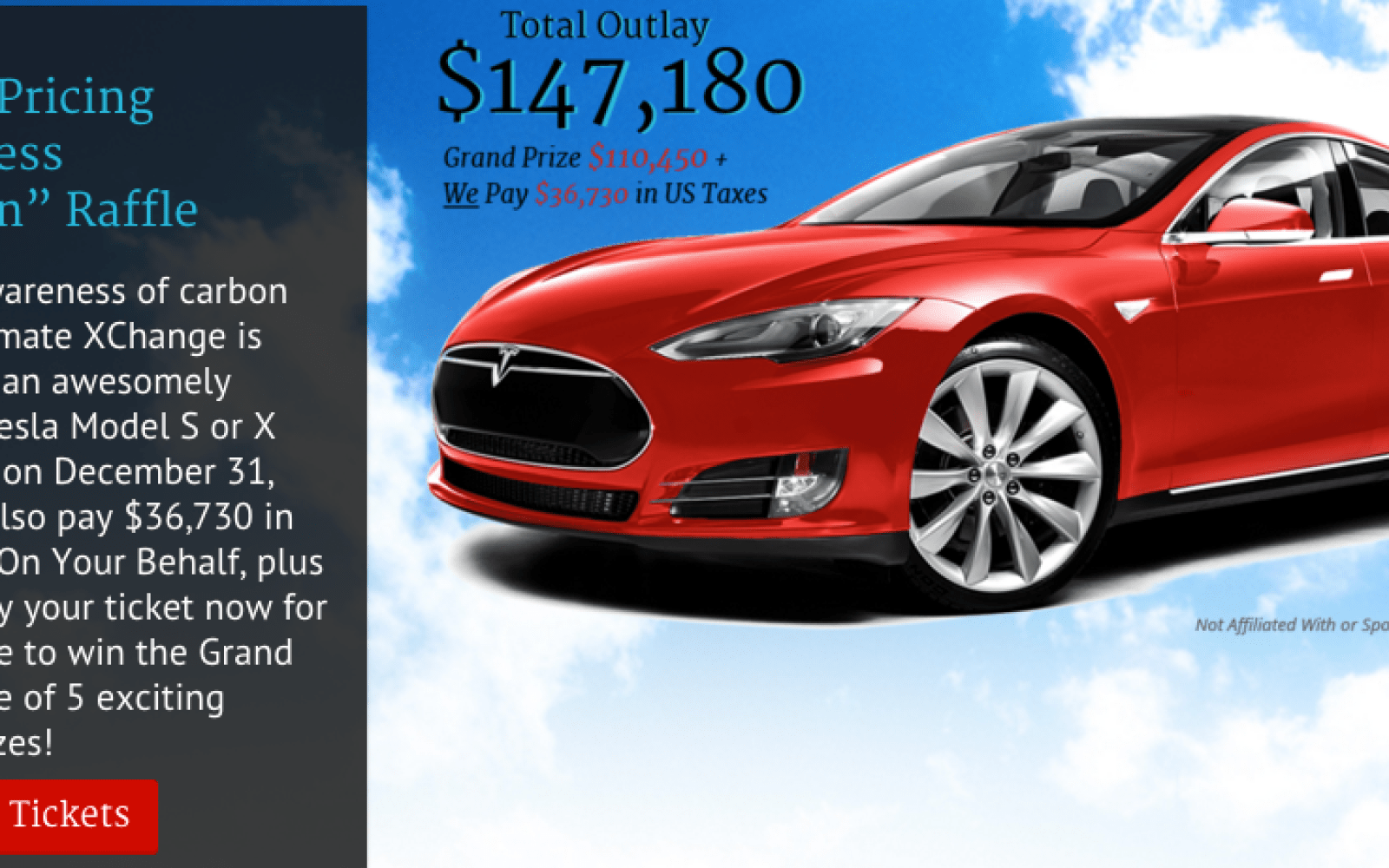 Raffle You Have A Chance To Win A Tesla Model S While
