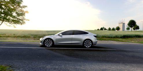 Tesla Model 3 promo shot