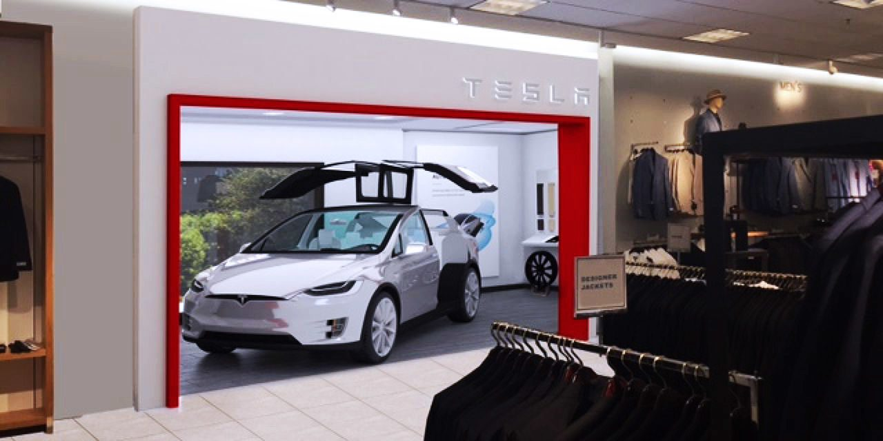 Tesla launches a pilot project to sell cars inside Nordstrom stores ...