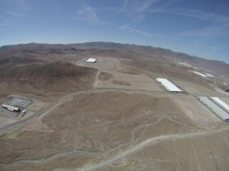 Tesla Gigafactory 1 coming from the north