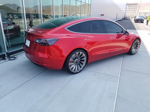 Model 3 red