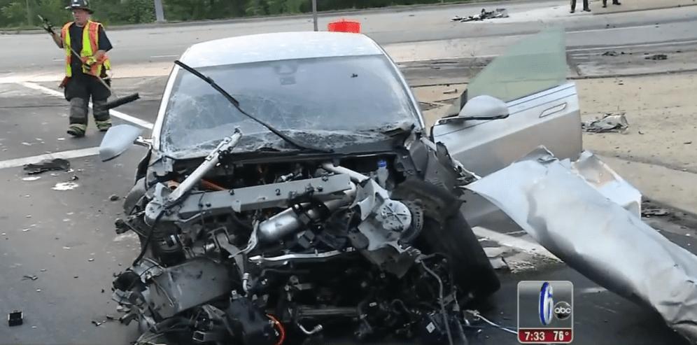 Model S tractor trailer crash 3