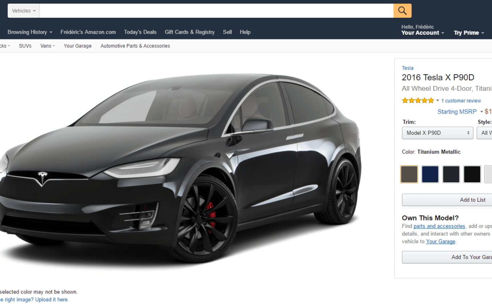 Tesla is now on Amazon: you can buy accessories and parts ...