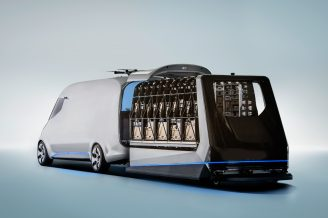 Mercedes-Benz Vision Van – Interior, One-Shot Loading ; Mercedes-Benz Vision Van – Interior, One-Shot Loading;