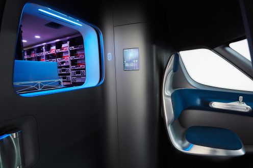 Mercedes-Benz Vision Van – Interior, Package dispenser ; Mercedes-Benz Vision Van – Interior, Package dispenser;