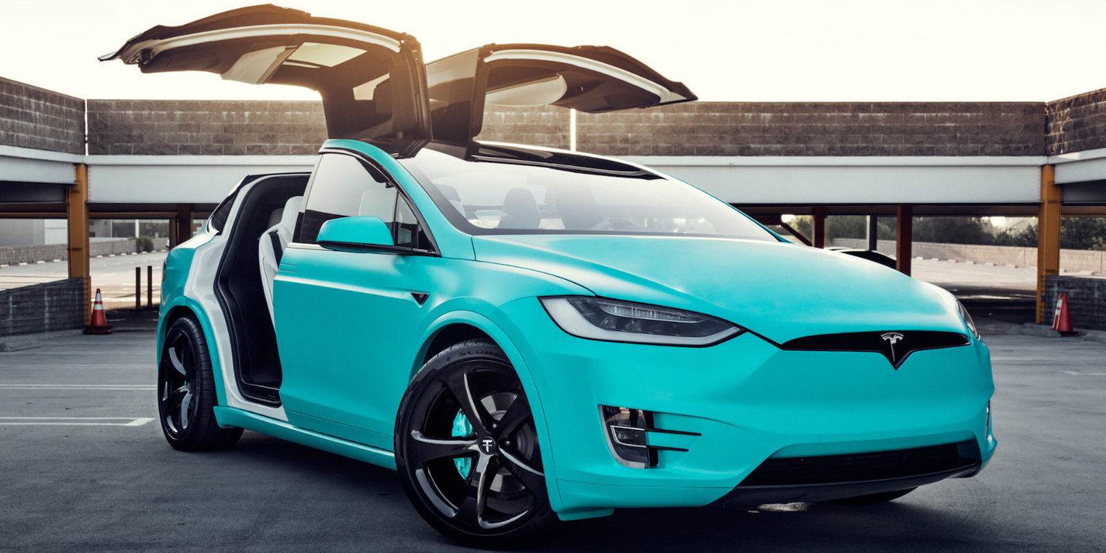 Tesla x blue