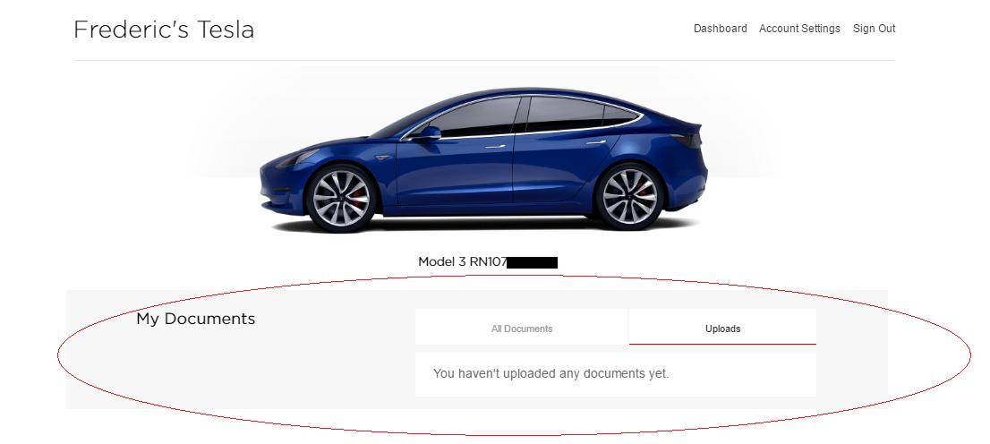 Tesla model 3 order