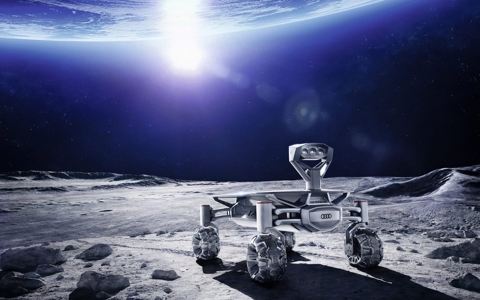 Audi's first all-electric vehicle will be shipped to the moon in a SpaceX Falcon 9 rocket