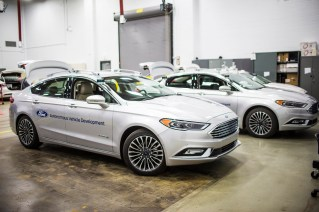 Ford Motor Company is introducing its next-generation Fusion Hybrid autonomous development vehicle, just in time for CES and the North American International Auto Show in January. The new vehicle uses the current Ford autonomous vehicle platform, but ups the processing power with new computer hardware. Electrical controls are closer to production-ready, and adjustments to the sensor technology, including placement, allow the car to better see what's around it. New LiDAR sensors have a sleeker design and more targeted field of vision, which enables the car to now use just two sensors rather than four, while still getting just as much data.