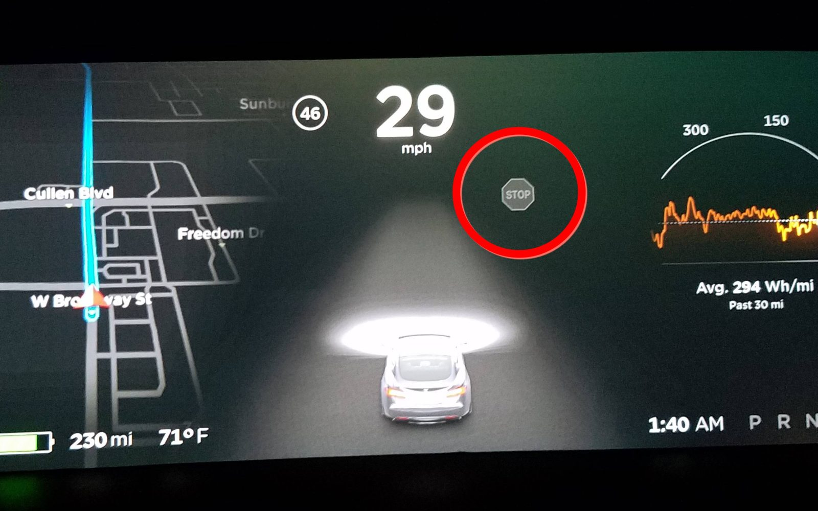 Teslas New Autopilot Update Detected And Displayed Stop Signs But Tesla Motor Design Diagram Pics It Didnt Act On Them