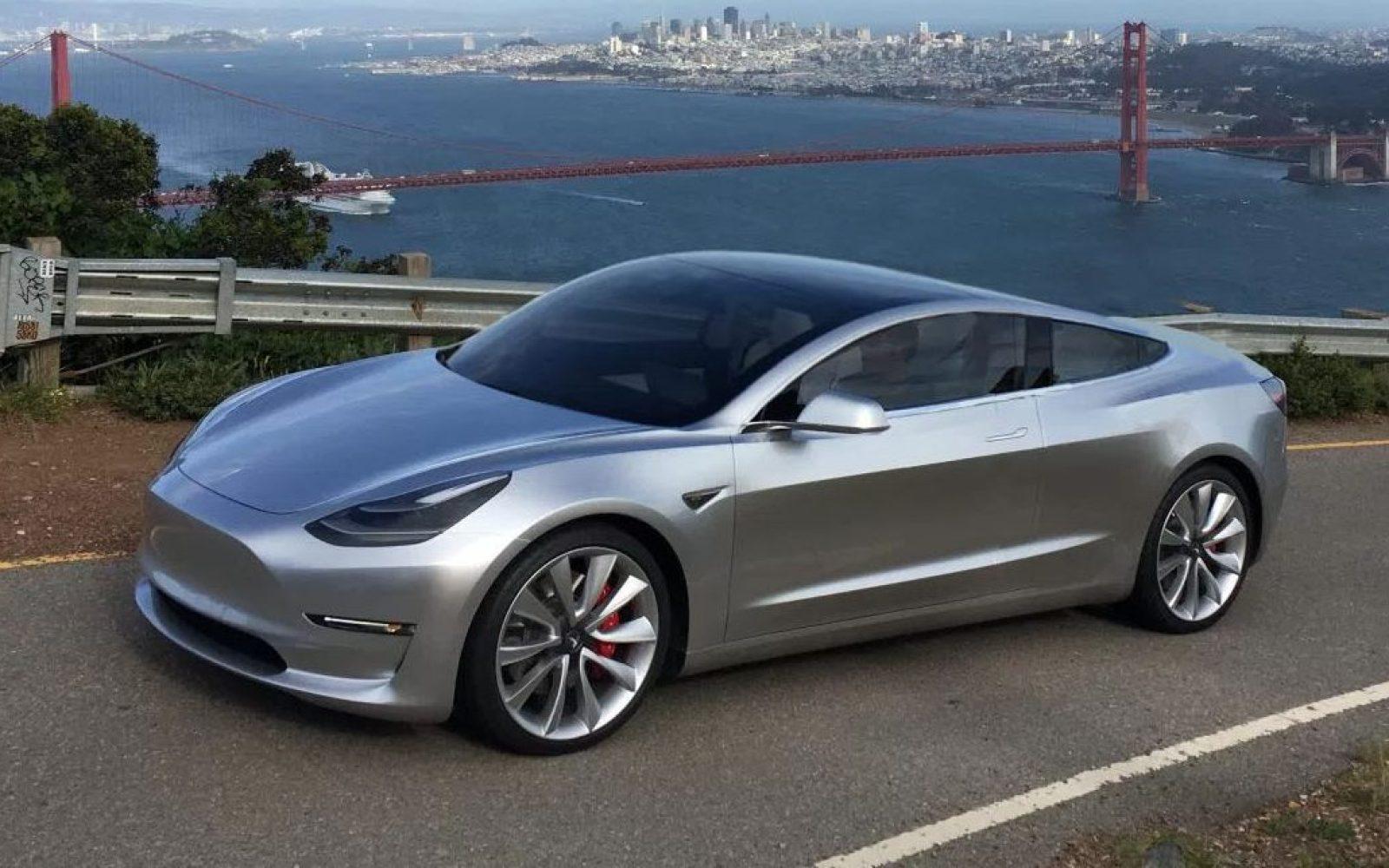 Tesla Model 3 As A Coup Unofficial Renders Electrek