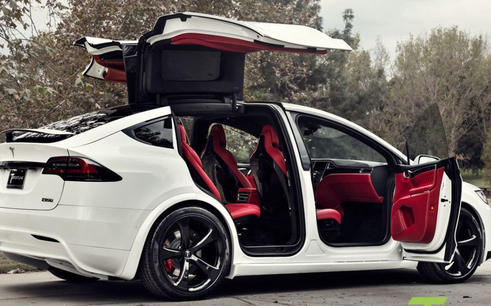 Tesla P90d For Sale >> A custom Tesla Model X with a Bentley's interior goes on sale for $180,000 - Electrek
