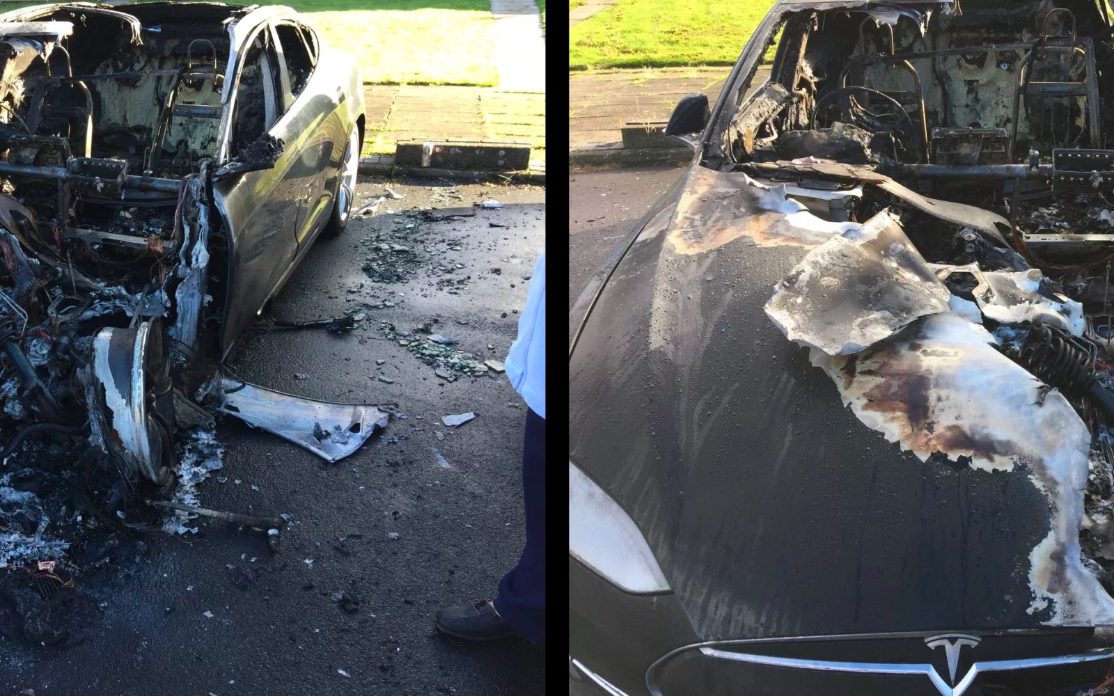 Tesla Model S Caught Fire In Yorkshire Tesla Says Cause Is Due To A