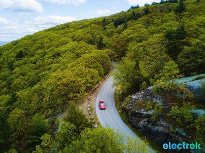 80 Bear Mountain NY scenic road BMW 330e Hybrid 3 series sports sedan review