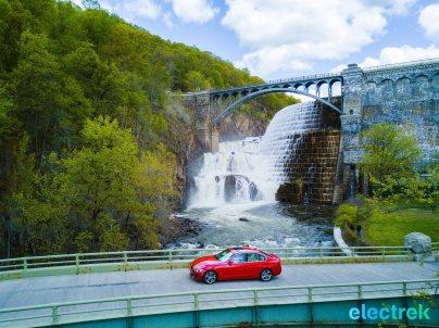 90 croton dam river bridge Electrek BMW 330e Hybrid 3 series sports sedan review
