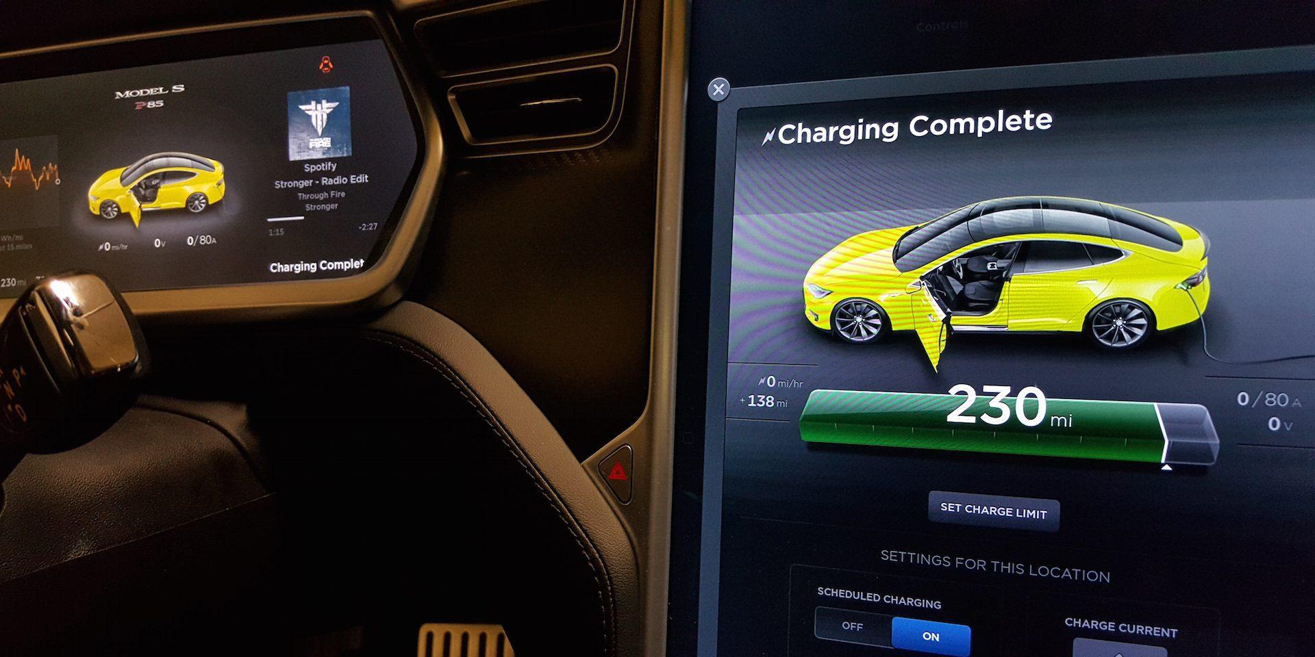 Tesla model s supercharger time
