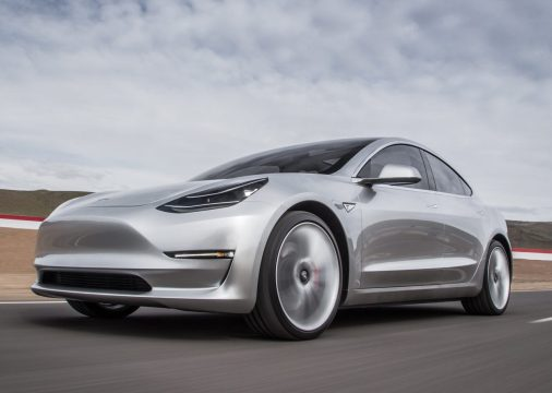 2017-Tesla-Model-3-front-three-quarter-in-motion-03