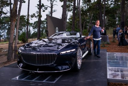 Impressionen der Weltpremiere des Vision Mercedes-Maybach 6 Cabriolet. Chief Design Officer Gorden Wagener enthüllt das Showcar in Pebble Beach, Kalifornien, 18. August 2017. World Premiere of the Vision Mercedes-Maybach 6 Cabriolet. Chief Design Officer Gorden Wagener revealing the showcar in Pebble Beach, California, August 18, 2017.