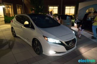 106 lights on dark night headlights design New Nissan Leaf 2018 National Drive Electric Week Bridgewater NJ-63