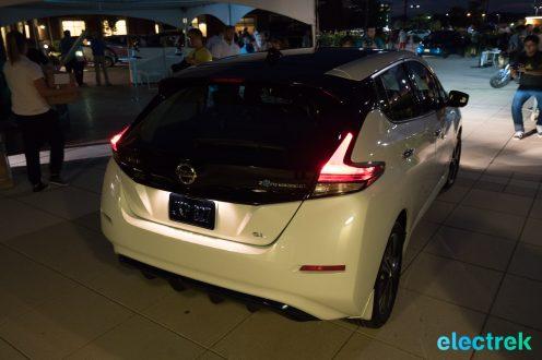 108 lights on tail rear brake dark night New Nissan Leaf 2018 National Drive Electric Week Bridgewater NJ-65