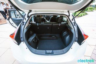 51 New Nissan Leaf 2018 trunk open foldable rear seats space National Drive Electric Week Bridgewater NJ-2