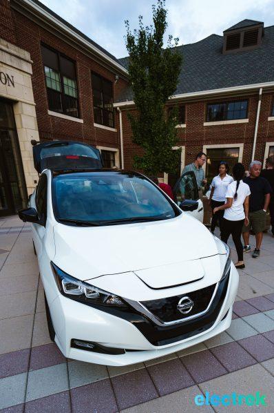 69 New Nissan Leaf front hood headlight 2018 National Drive Electric Week Bridgewater NJ-22