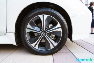 78 New Nissan Leaf 2018 wheel rim tire design National Drive Electric Week Bridgewater NJ-32