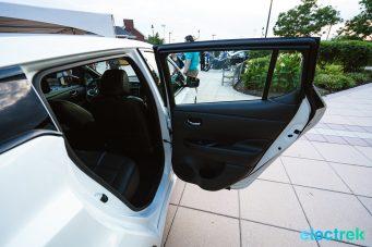 82 New Nissan Leaf 2018 rear passenger door open National Drive Electric Week Bridgewater NJ-36