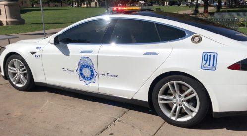 Tesla Model S police denver 2
