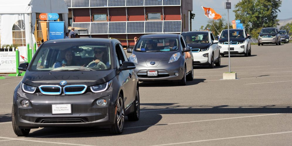 Electric Cars on Parade