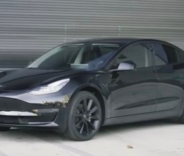 Tesla Model  Looks Badass With Aftermarket Chrome Delete Tint And Wheels