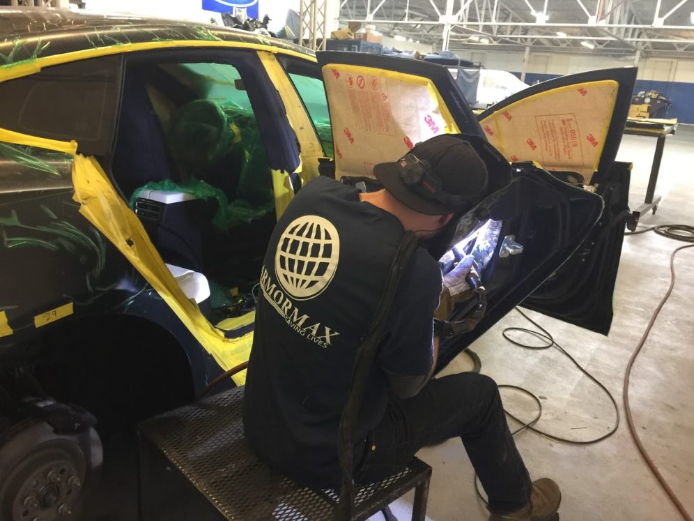 Working on the Armored Tesla Model S P100D