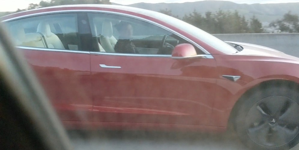 Tesla Model 3 white interior