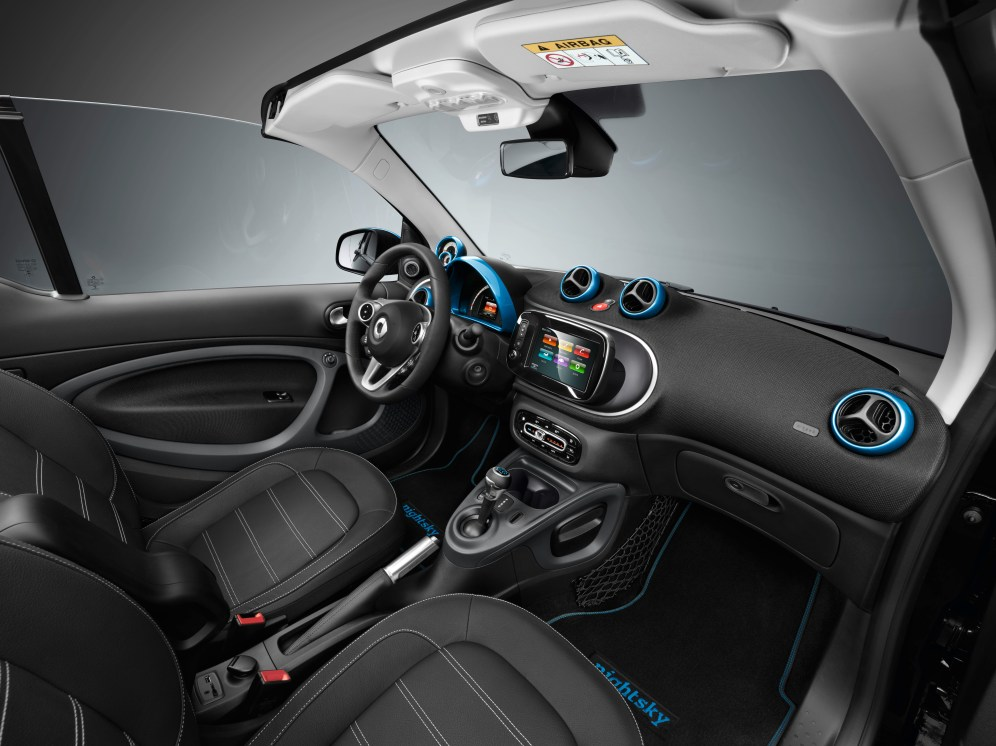 smart EQ fortwo; forfour edition nightsky; Interieur smart EQ fortwo; forfour edition nightsky; Interior
