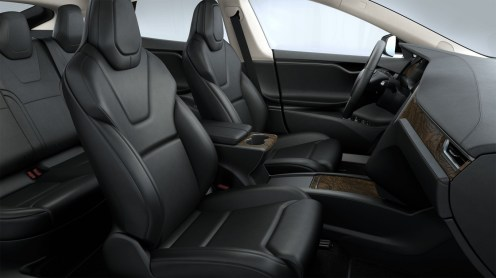 tesla black and beige interior