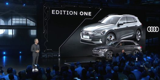 Audi E-Tron World Launch Edition One front