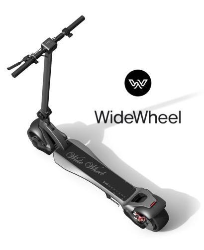 wide wheel scooter