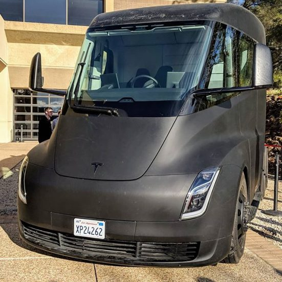 Tesla Semi black prototype 1