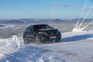 EQC on Ice: Elektrisch auf Eis: Wintererprobung des EQCEQC on Ice: Electric on ice: winter trials of the EQC