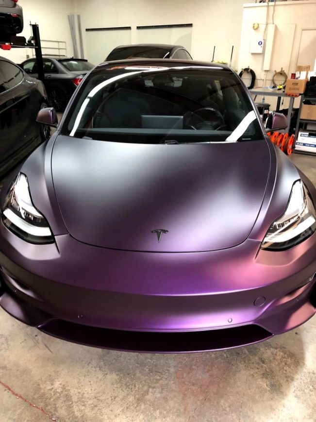 Tesla Model 3 Purple 3