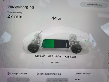 Tesla Supercharger v2 145kw