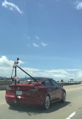 Tesla self-driving demo 1