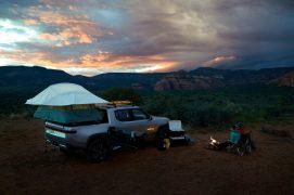 Rivian R1T electrc pickup truck camper 1