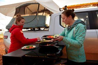 Rivian camper kitchen system 1