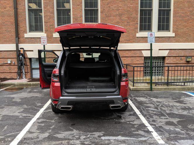 Range Rover Sport PHEV trunk