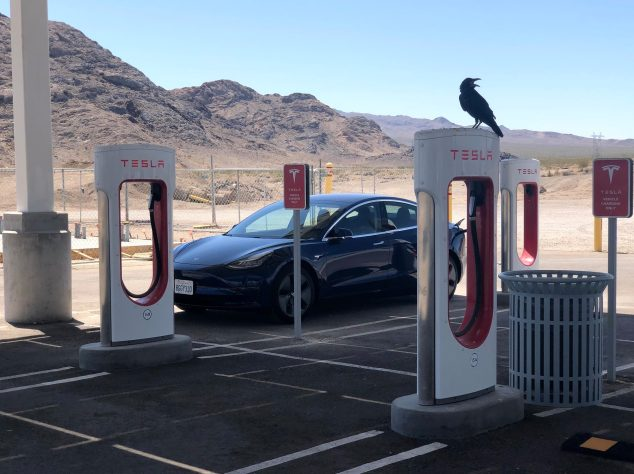 Tesla Model 3 Baker Supercharger 2