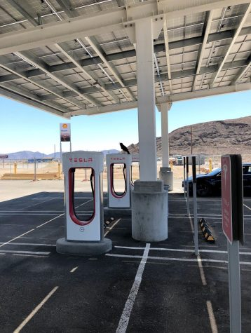 Tesla Model 3 Baker Supercharger